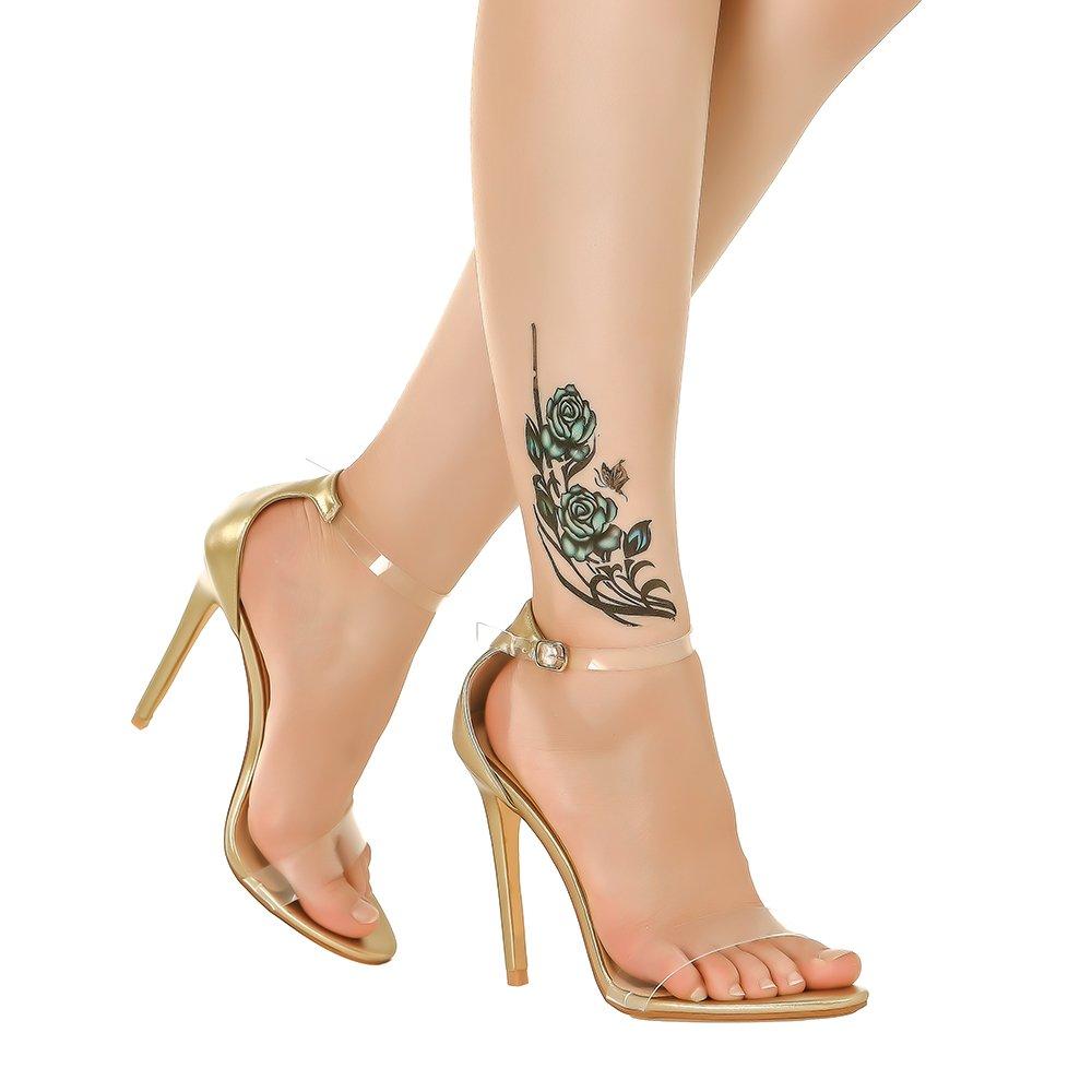 a1d19517807e Amazon.com  Shoe N Tale Women s Lucite Clear Ankle Strap High Heel Sandals   Shoes