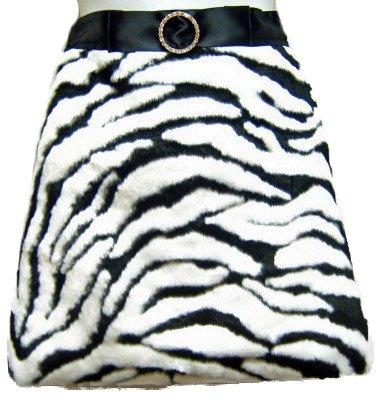 Zebra Print Faux Fur Hostess Kitchen -