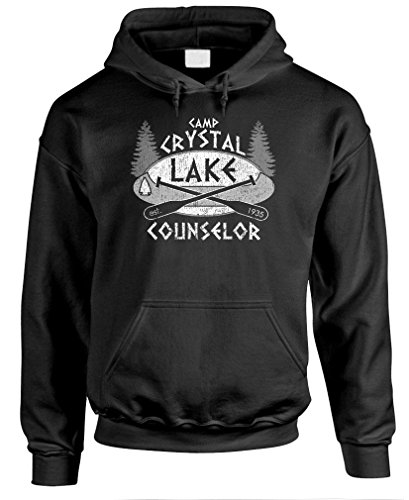 The Goozler Camp Crystal Lake - Horror Jason Hockey - Mens Pullover Hoodie, 2XL, -