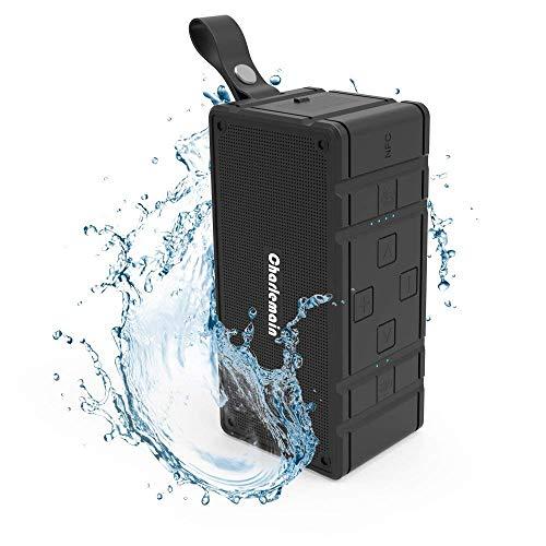 Altavoz Bluetooth, V4.2 Altavoz inalámbrico con bajos mejorados Dual 10W Drivers Mini altavoz externo portátil Micrófono...