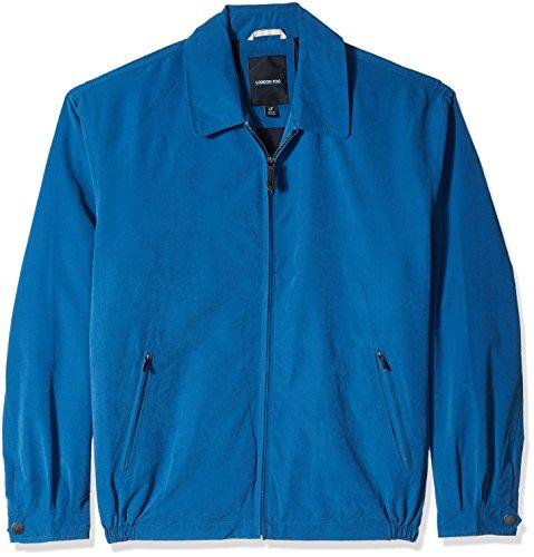 London Fog Men's Auburn Zip-Front Golf Jacket (Regular & Big-Tall Sizes), pacific blue, 2X-Large Blue Cotton Twill Jacket