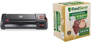 FoodSaver Vacuum Sealer GM710-000 GameSaver Big Game Sealing System, reg, Black & GameSaver 8