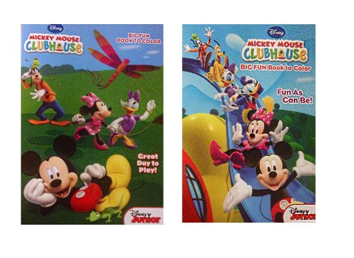 Disney Mickey Mouse Clubhouse Jumbo Coloring Book and Activities (Pack of 2)
