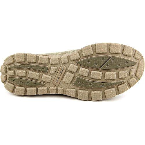 Skechers Superior-Pace Mens-Schwarz-Segeltuch-beiläufige Kleid-Beleg auf Loafer Schuhe Taupe