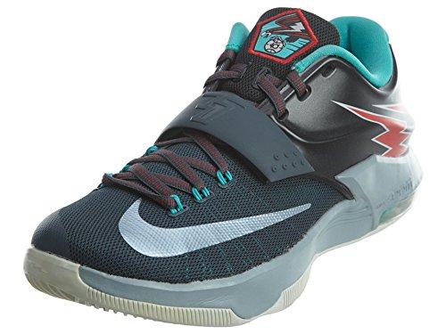 Nike Mens KD VII Thunderbolt Basketball Shoes Charcoal/Dove Grey 653996-005 Size 9