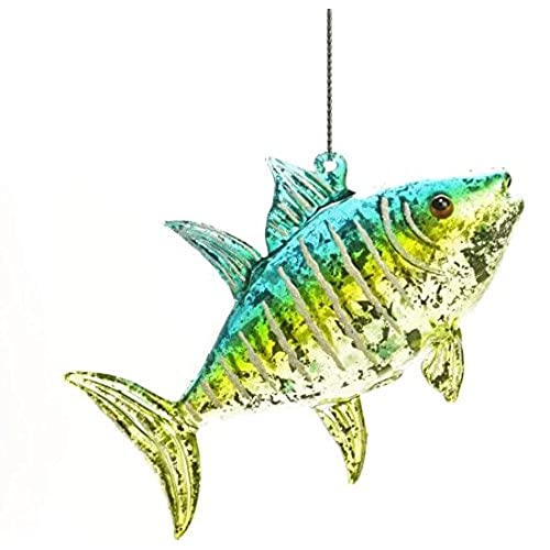 glass jeweled fish hanging christmas tree ornament - Fish Christmas Ornaments