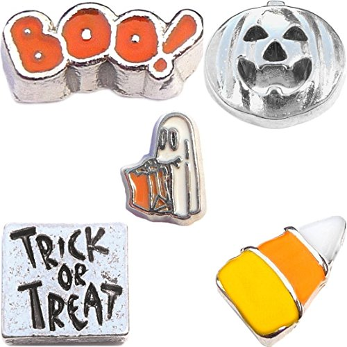 Origami Owl Halloween Locket (Trick or Treat Halloween Charm Set for Floating Lockets)