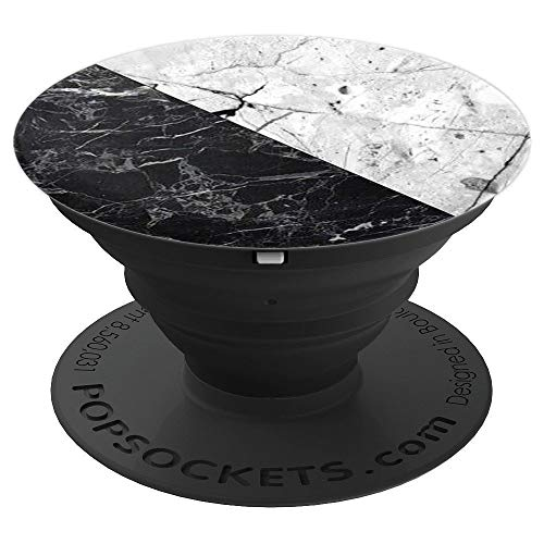 Pop Sockets Black White Marble Cool Popsocket for Men Women - PopSockets Grip and Stand for Phones and Tablets -