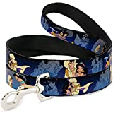 Buckle Down Dog Leash - Aladdin & Jasmine Scenes