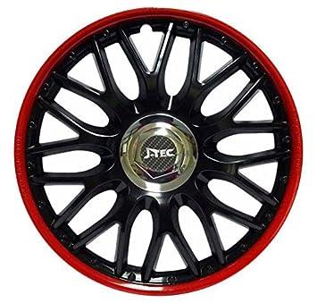 Hubcaps Wheel Trims Set of 4 Orden Red Black (14 inch): Amazon.co.uk: Car & Motorbike