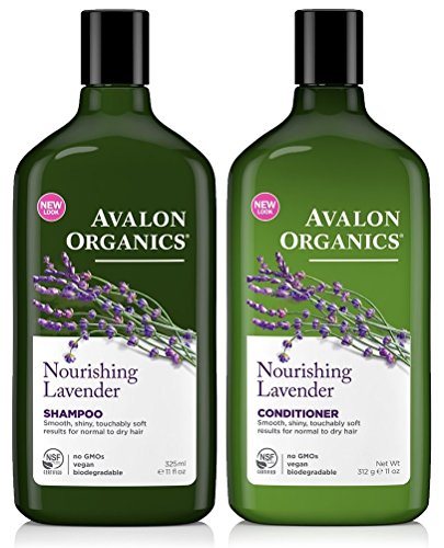 - Avalon Organics Lavender Nourishing Shampoo & Conditioner Duo, 11 oz