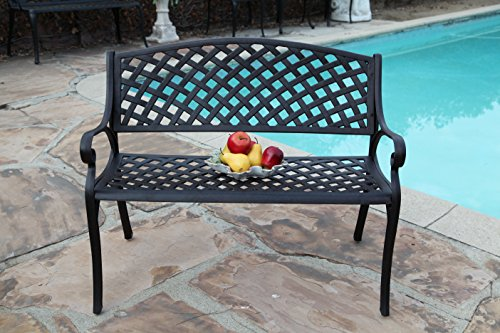 CBM Patio Furniture Solid Cast Aluminum Kawaii Collection Bench K DS-29B CBM1290