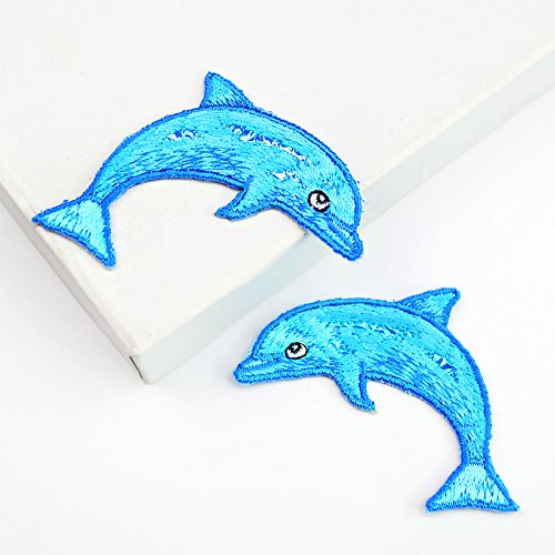 Evil Outlaw Child Hat (Dolphin whale marine animals embroidery cloth stickers children clothes decorative patch 1 pair (2 pieces))