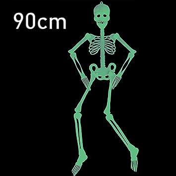 90cm Halloween Hanging Skeleton Plastic Scary Party: Amazon.co.uk ...