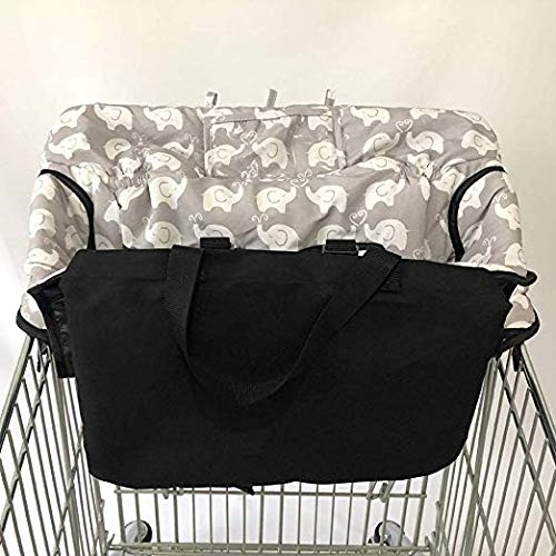 Baby Children Kids Toddler Trolley Supermarket Shopping Cart Padded Seat Cover with Safety Strap Anti-Stain Dirty High Chair Shield Pad