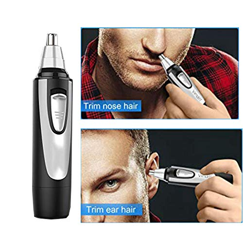 (Maple_Leaf Suitable for Men's Ear and Nose Hair Trimmer 360 Degree Rotation Rechargeable Nose Hair Trimmer with Micro Shaving Head, Can Also Be Used As Ear Hair Remover Travel Portable)