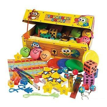 Cool Assortment - Cool Fun 5-1647 Cardboard School Treasure Chest Assortment - 100 Piece