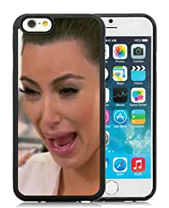 Fashionable iPhone 6S Plus Case,Kim Kardashian Crying Hilarious Face Black Customized Case For iPhone 6S Plus 5.5 Inch TPU Case