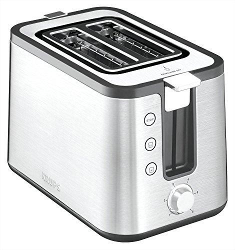 Krups KH442 Premium Toaster Control Line mit 6 Bräunungsstufen (720 Watt) edelstahl / schwarz