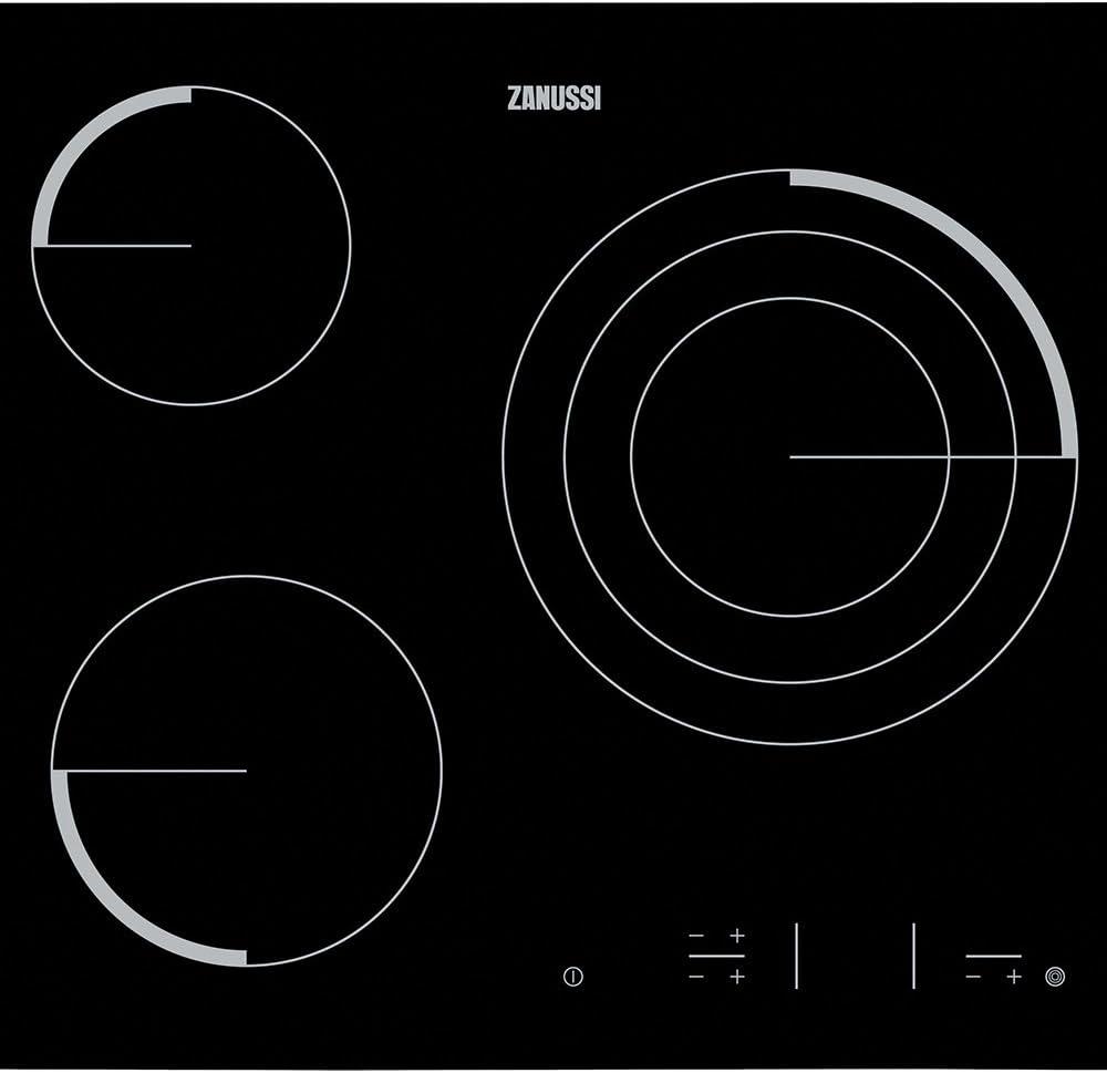 Zanussi Z6123IOK - Placa Vitrocerámica Z6123Iok Con 3 Zonas Hi-Light: 166.98: Amazon.es: Grandes electrodomésticos