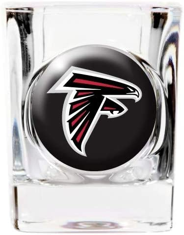 Atlanta Falcons 4 Piece Square Shot Glass Set w//Individual Logos