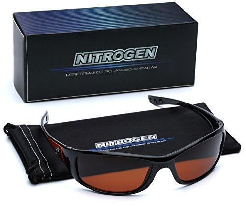 Small Polarized Sport Fishing Driving Running Sunglasses - Black & ()