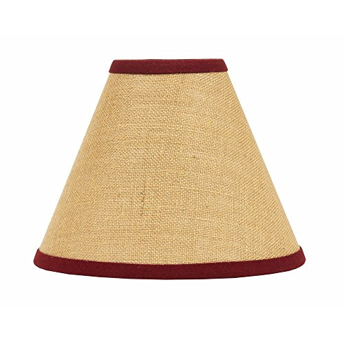 Home Collection by Raghu Red Burlap Stripe Lampshade, 6""