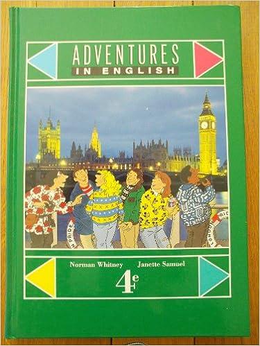 Livres En Ligne Gratuits A Lire Anglais 4eme Adventures In