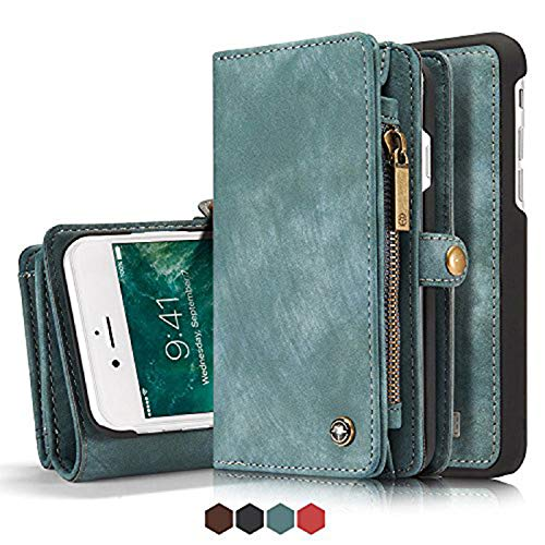 Leather Wallet Magnetic Phone Case Detachable Case with Card Holder Flip Cover for IPhone XS, - Phone Case Fire Leather Wallet