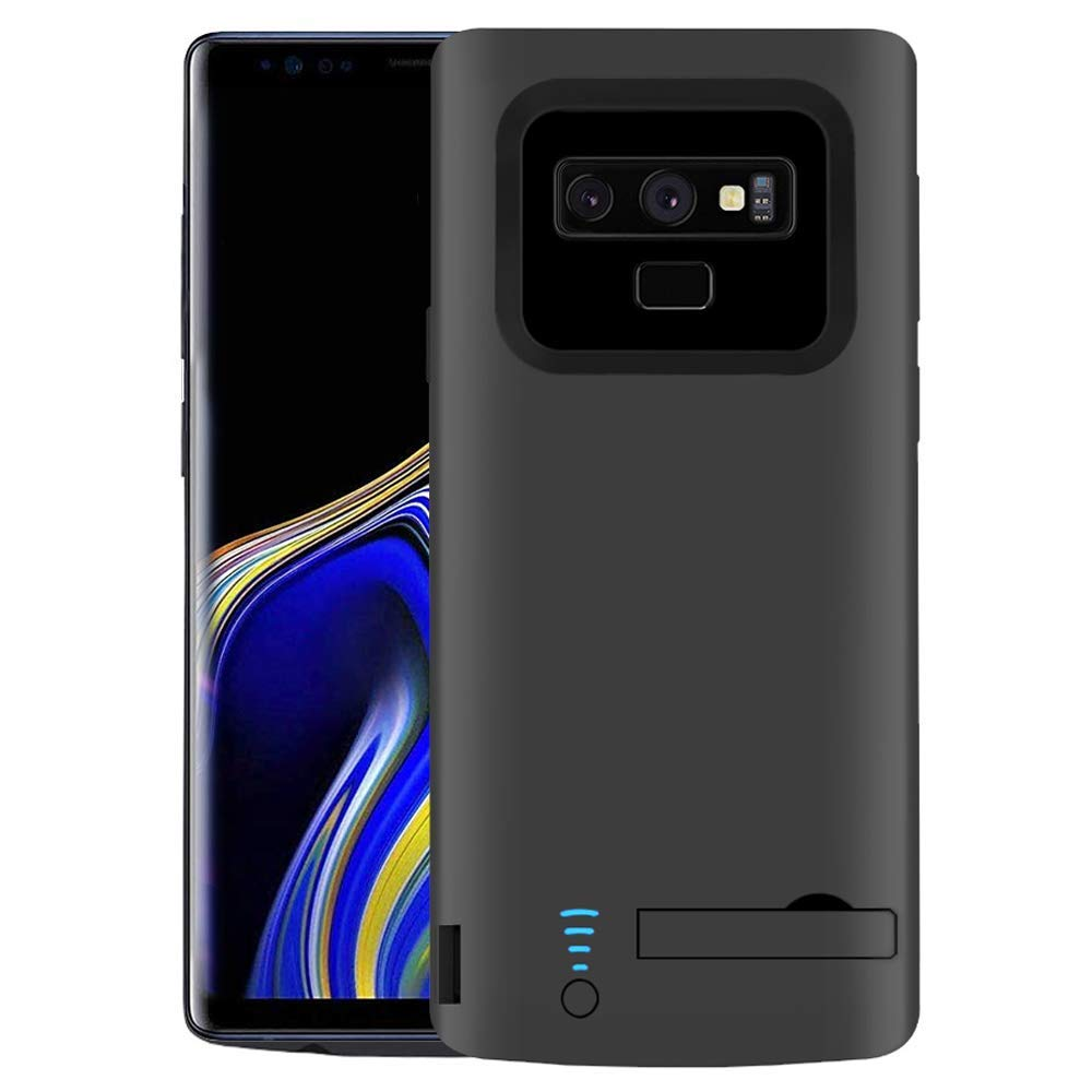 RUNSY Samsung Galaxy Note 9 Battery Case, 5000mAh Rechargeable Battery Charging/Charger Case with S-Pen Hole, Adds 90% Extra Juice, Charges 2 Devices Simultaneously (6.4 inch for Note 9) by RUNSY