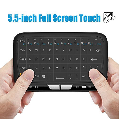 Meerveil H18 2.4GHz Mini Wireless Keyboard and Touchpad Mouse Combos, Rechargeable Remote Control for Android TV Box, Kodi,HTPC, IPTV, PC, PS3 ,Xbox