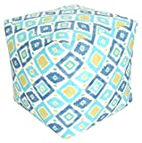 India House 18'' x 18'' x 18'' Thedra South Seas Outdoor/Indoor Pouf