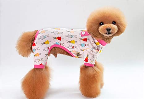 PZSSXDZW Pijamas para Perros Primavera y Verano Ropa para Mascotas ...