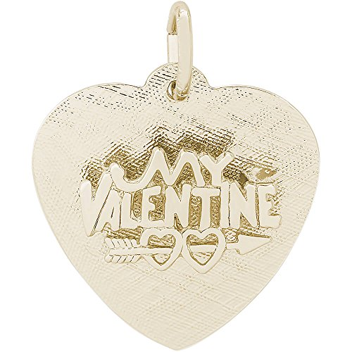 Rembrandt Charms 10K Yellow Gold Be My Valentine Charm (0.72 x 0.73 inches) by Rembrandt Charms