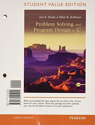 Problem Solving and Program Design in C, Student Value Edition Plus MyLab Programming with Pearson eText -- Access Card