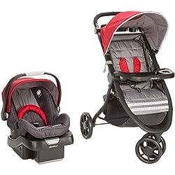 Eddie Bauer Alpine 3 Travel System with SureFit Infant Car Seat, Salsa Red