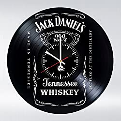 Whiskey Design Vinyl Record Wall Clock - Gift Idea for parents and friends - Contemporary home or office wall art decoration
