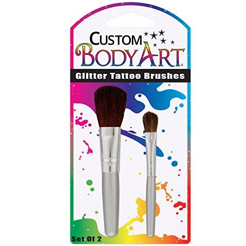 Custom Body Art - Set of 2 Glitter Tattoo Brushes