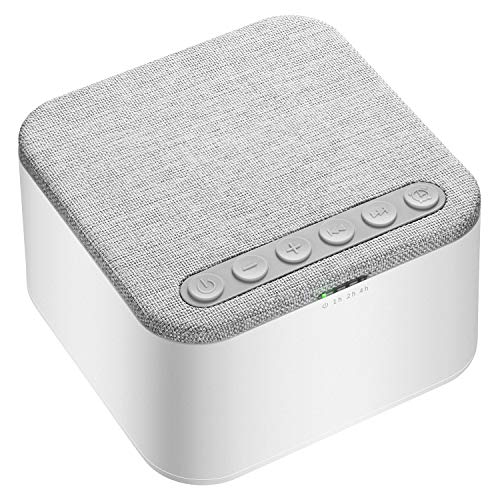 White Noise Machine, X-Sense Sleep Sound Machine with 40 Non-Looping Soothing Sounds and Memory Function, High Quality Speaker with 30 Levels of Volume and 7 Timer Settings for Home (White)