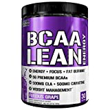 Evlution Nutrition BCAA Lean Energy - Energizing Amino Acid for Muscle Building Recovery and Endurance, with a Fat Burning Formula, 30 Serving (Furious Grape)