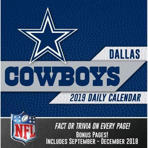 2019 Dallas Cowboys 365 Page-A-day DAILY CALENDAR/Desk Calendar