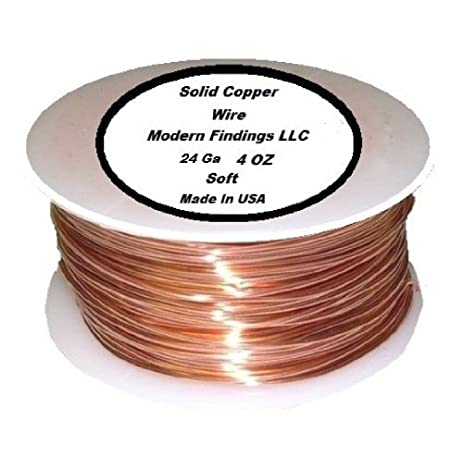 24 Ga Solid Copper Wire 4 Oz 224 Feet (Soft) on Spool - Electrical ...
