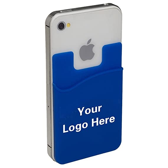 on sale 09161 46fb7 Econo Silicone Adhesive Cellphone Pocket Card Holder Caddy Smartphone  Wallet- 250 Quantity - $1.30 Each - Promotional Products Bulk Custom  Branded ...
