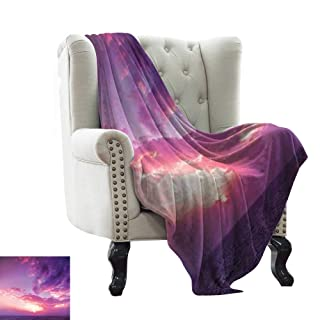 WinfreyDecor Home Throw Blanket Girly Skull and Crossbones Pattern in Simple Artistic Design Sofa Chair 60' Wx60 L