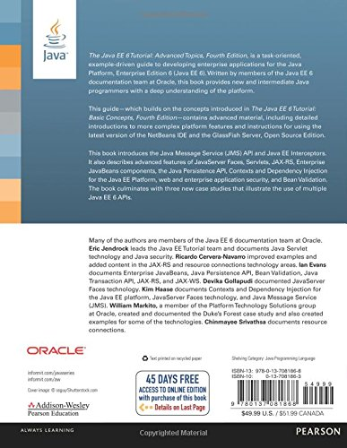 Read PDF The Java EE 6 Tutorial, The: Advanced Topics, 4/e