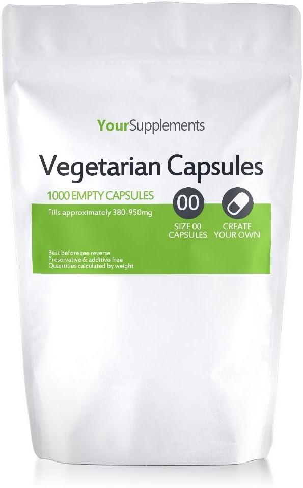 Your Supplements - Cápsulas vegetales, Vacías, Tamaño