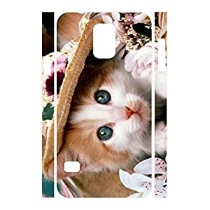 Deluxe Custom Animal Series Cat Pattern Phone Accessories Skin for Samsung Galaxy S5 I9600 Case