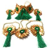 AGAAS ENTERPRISES Yellow Fabric Flower Jewellery Set for Women
