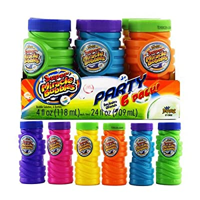 Okk Toys Super Miracle Bubbles Party 6 Pack (4 Fl Oz Each): Toys & Games