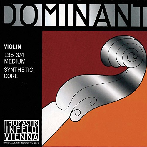 Thomastik Dominant 3/4 Violin String Set - Medium Gauge - Aluminum/Steel Ball-End E (Dominant Brand Violin Strings)